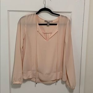Small loose blush blouse